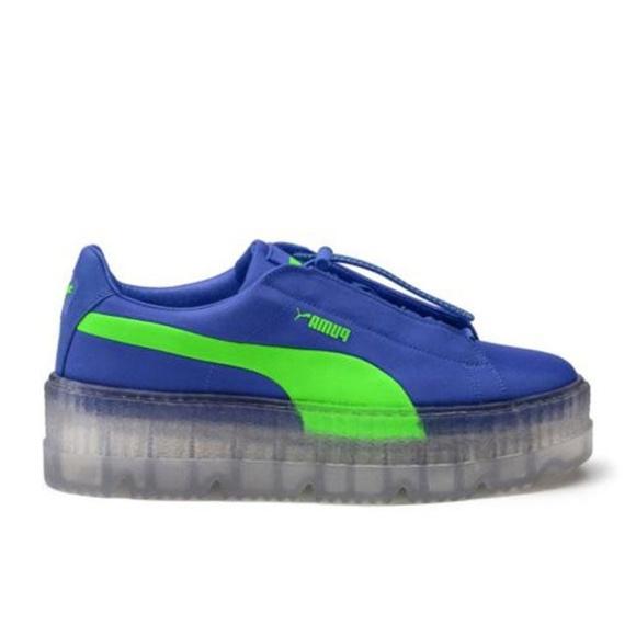 half off eef50 7b4db Puma Cleated Creeper Surf Rihanna Fenty Blue Green